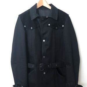 The Kooples Trench Coat Suede Leather Men's Small